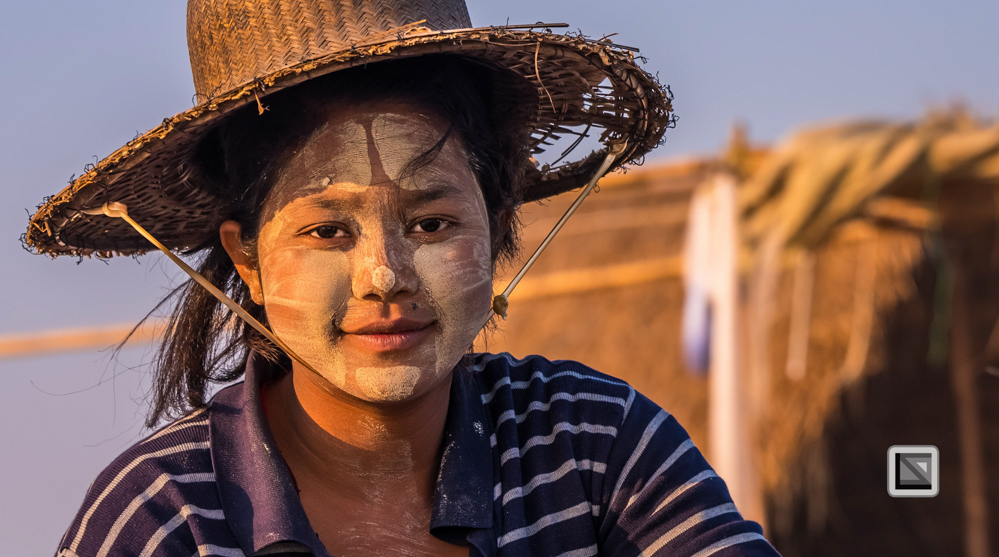 Irrawaddy River, Myanmar, Frauen-Portrait