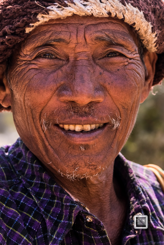 Homalin, Myanmar, Männer-Portrait