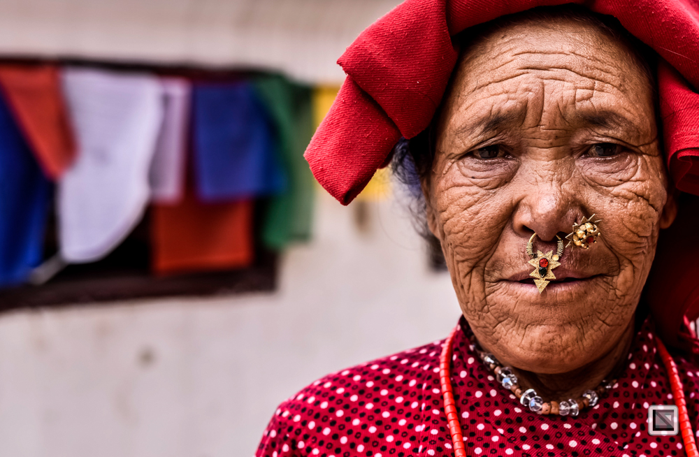 Kathmandu, Nepal, Frauen-Portrait