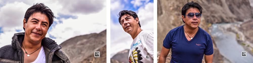 Collage  asiatischer Mann, Perspektiven