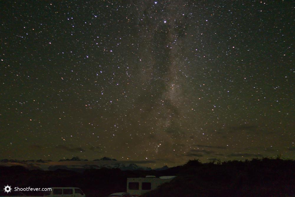 Mitternacht mit Blick auf den Mt. Cook in Neuseeland