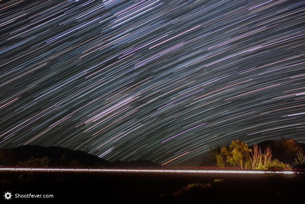 Sternspuraufnahme mit 20 Minuten Belichtungszeit