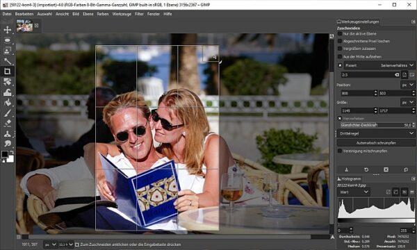 Mit Gimp Bild zuschneiden - Titelbild