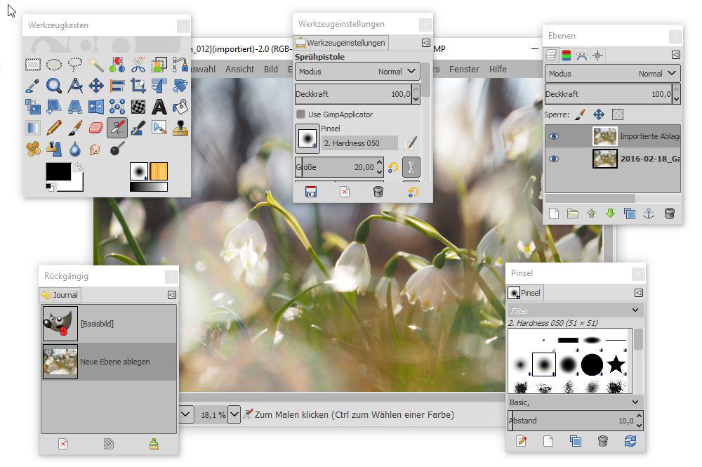 Bildbearbeitung mit Gimp (Teil 1): zuschneiden, kleinrechnen und Horizont ausrichten