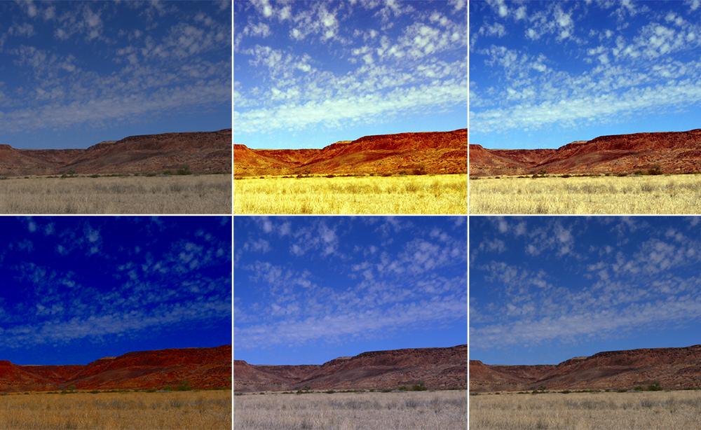 Ergebnisvergleich der Automatikfunktion in GIMP