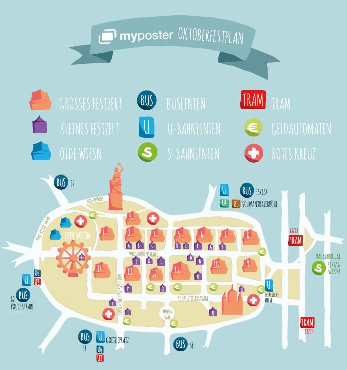 myposter Oktoberfestplan 2016