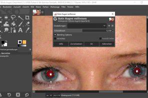 Bildbearbeitungsprogramm Gimp (Teil 3): Rote Augen entfernen & andere Retuschen