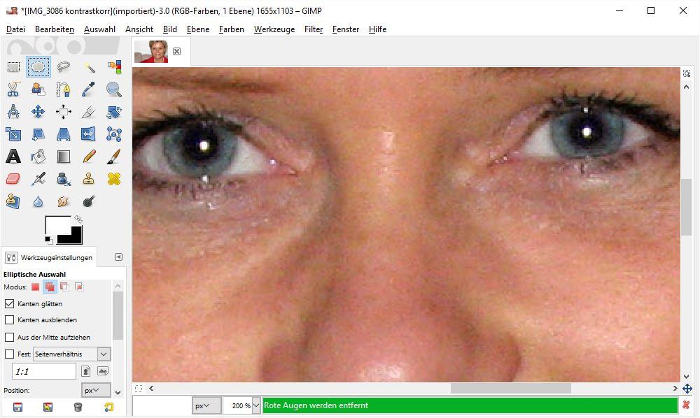 Rote Augen aus Bildern entfernen