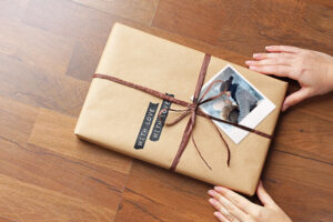 Polaroid als Geschenkanhänger