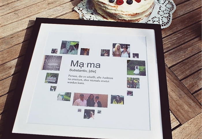Muttertag-Ideen: Fotocollage Mama