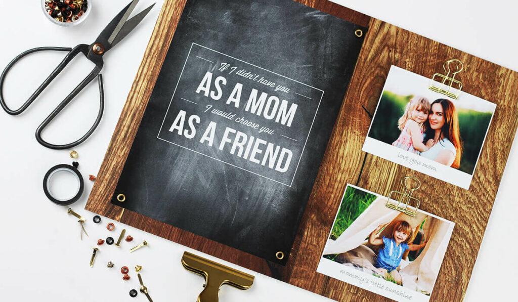 Muttertag Ideen: Memoboard selber basteln