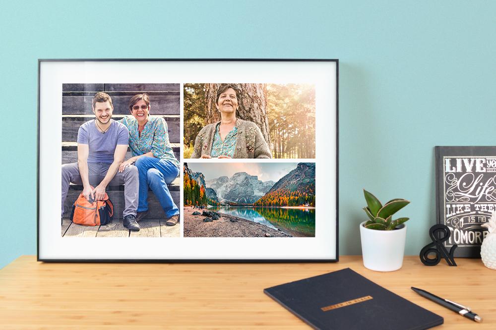 Ideen Muttertag / Fotogeschenke DIY: Fotocollage im Rahmen
