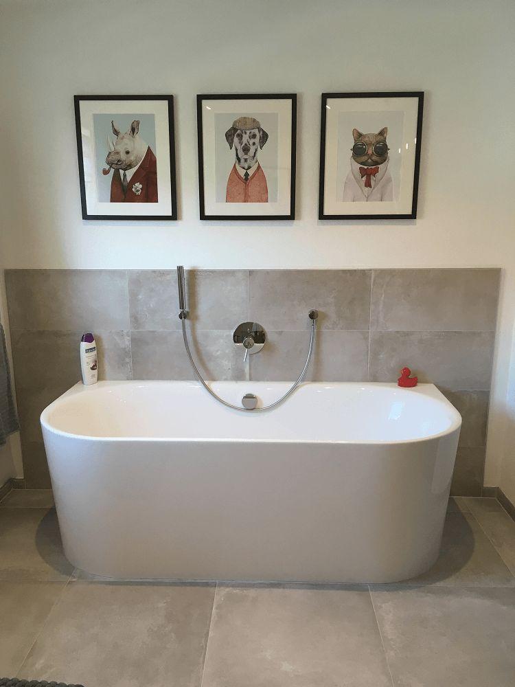 Badezimmer design ideen kundenbeispiel gerahmtes poster myposter maria b Badezimmer dekoration meer