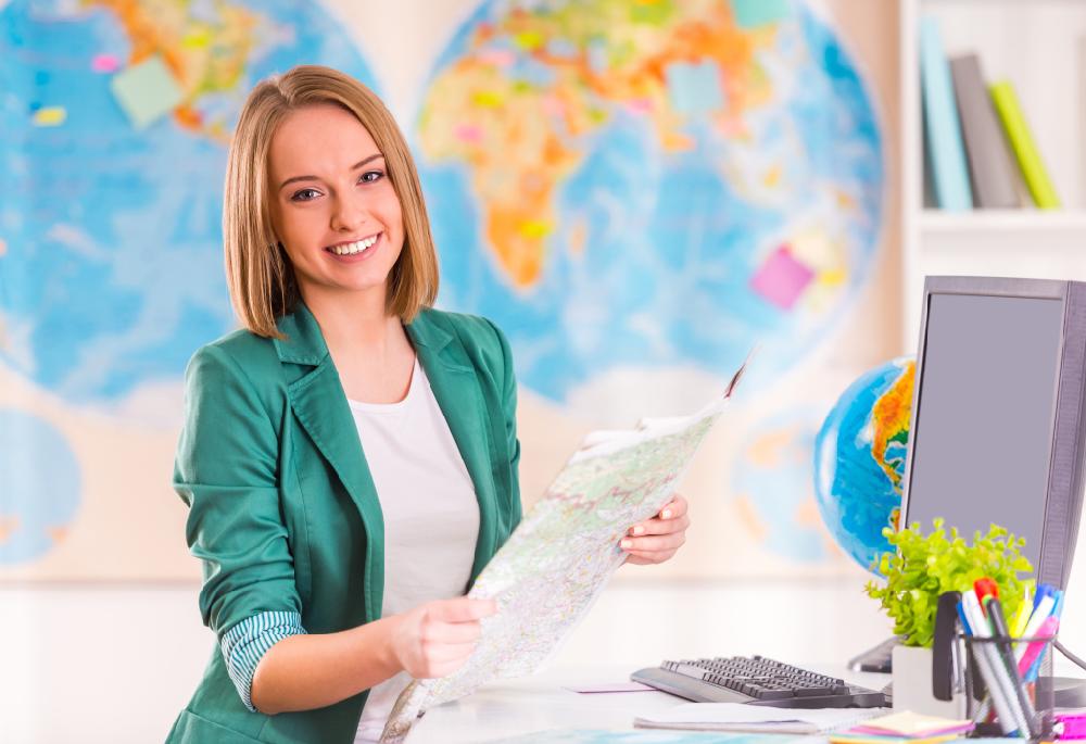 Carte du monde à épingler - agence de voyage / myposter