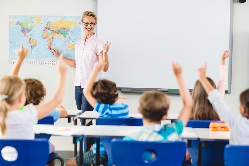 Lehrer Weltkarte Schule