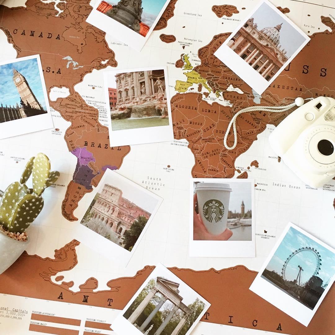 Carte du monde à épingler et customiser / @parisiennement.votre / myposter