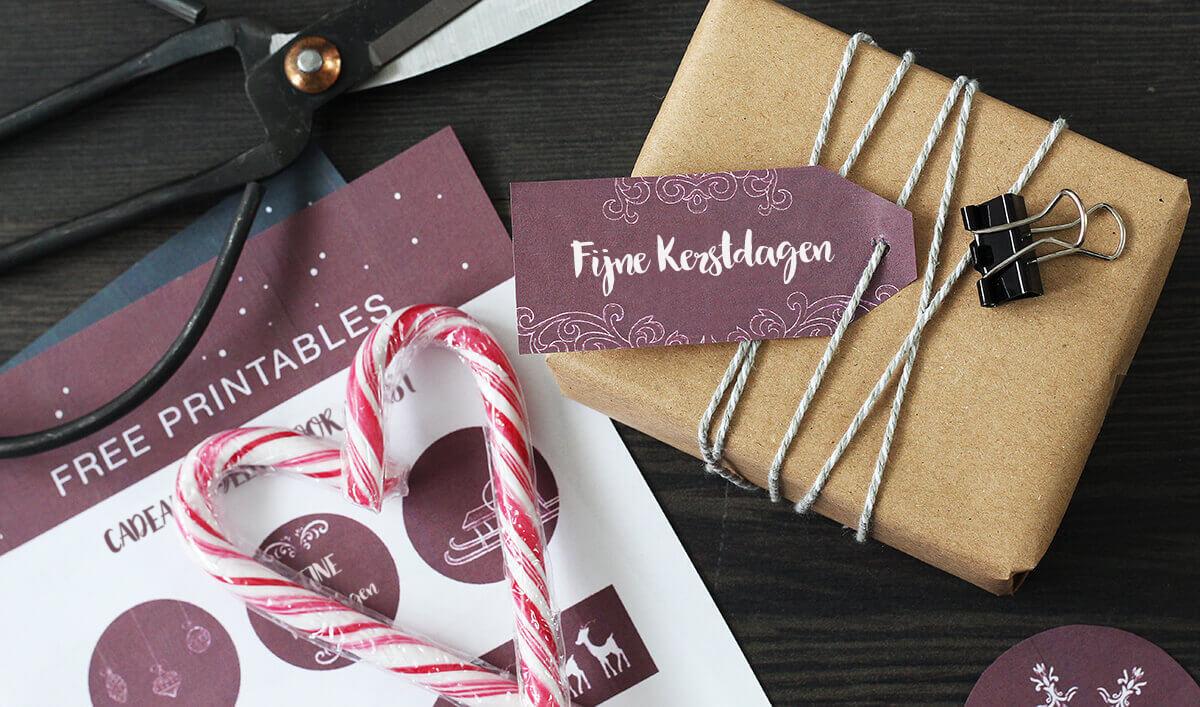 cadeau label gratis download snoepgoed
