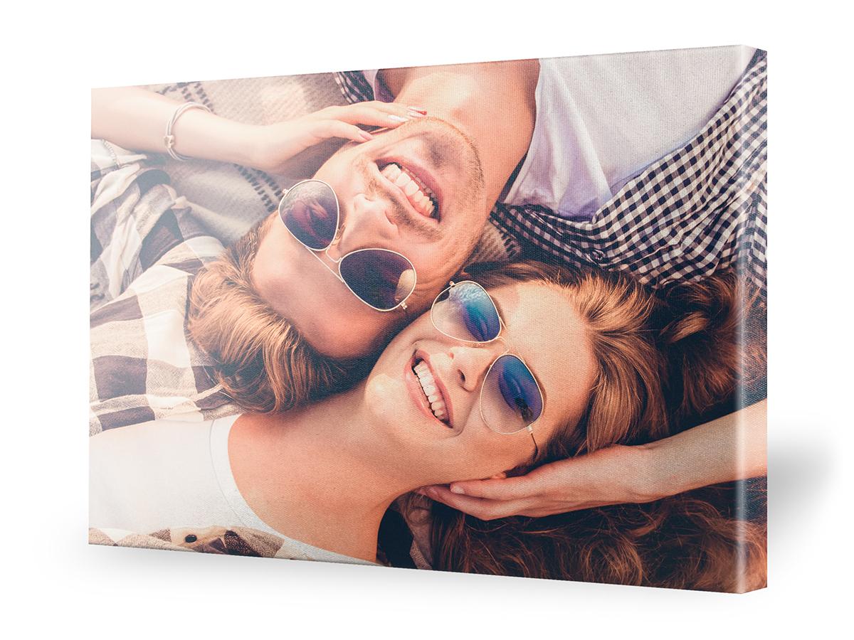 Paarfotografie auf Leinwand / Pärchen Bilder Idee