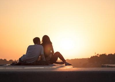 Paarfoto Idee Sonnenuntergang
