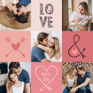 valentinstag geschenk selber machen - Love-Collage