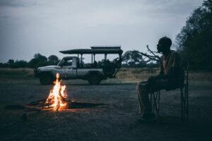 Botswana Safari Wildlife Photography Campfire