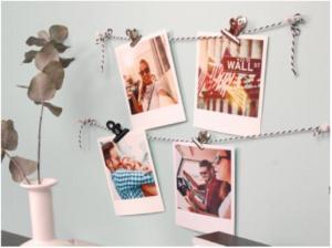 Fotogirlande, Polaroid-Bilder, Girlande aus Fotos
