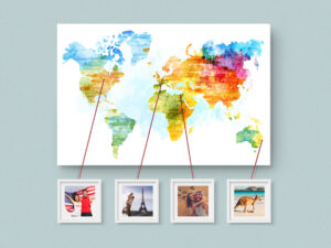 Weltkarte mit Fotos, Foto-Weltkarte
