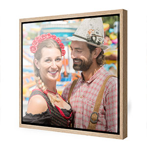 Oktoberfestplan oder eigenes Foto im zünftigen Holzrahmen