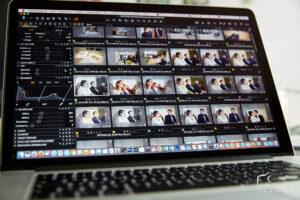 Hochzeitsbilder bearbeiten: PC-Bildschirm mit Bilddaten-Verwaltungsprogramm