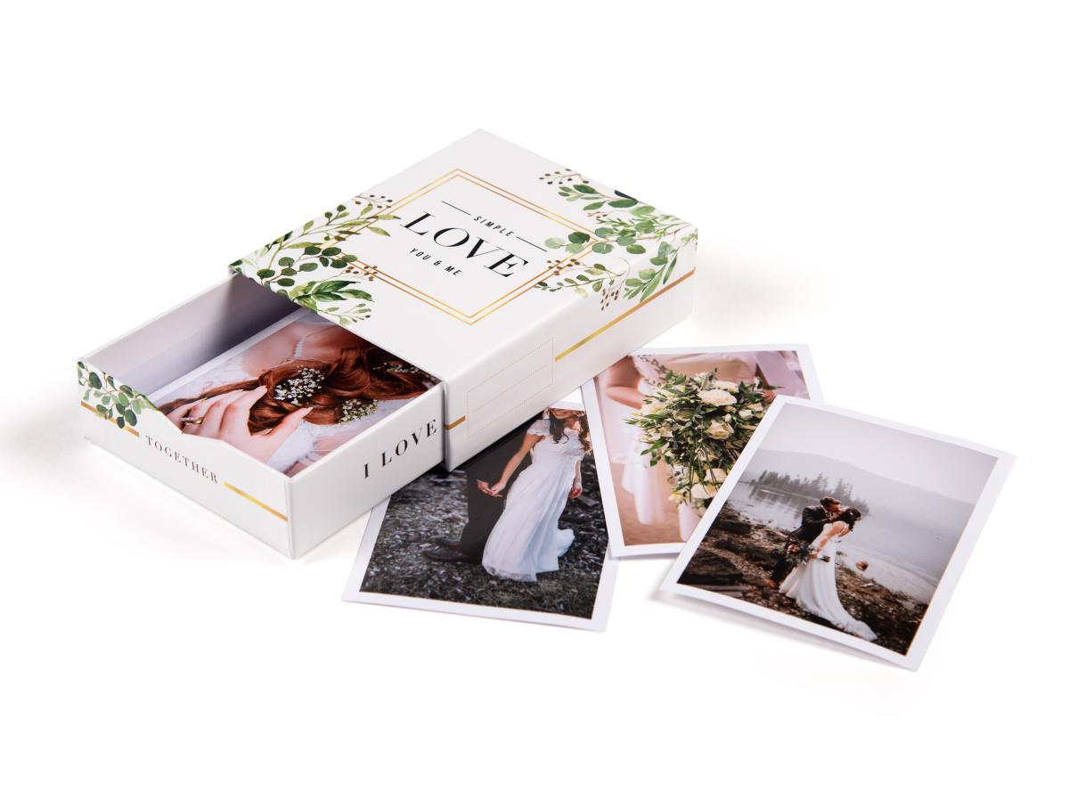 """Hochzeitsfotos in der romantischen Bilderbox """"Just married"""""""