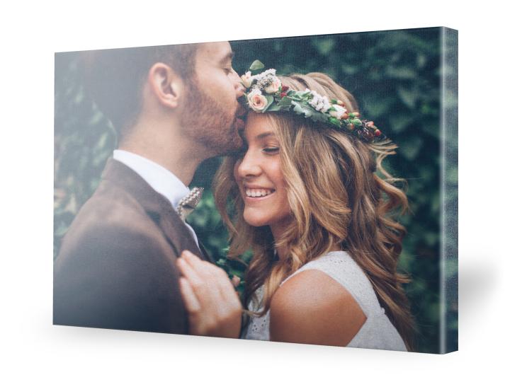 Hochzeitsbild auf Leinwand