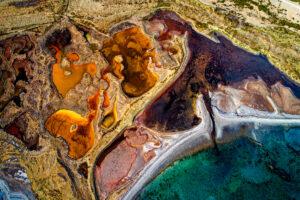 Drohnenfotografie: Flussdelta und Seenlandschaft in Island