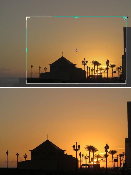 Bildqualität verbessern: Rand wegschneiden
