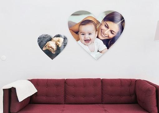 Geschenkidee mit Fotos: Herzförmige Bilder