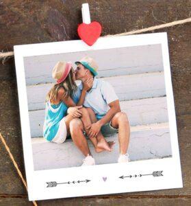 Geschenkanhänger im Polaroidstil