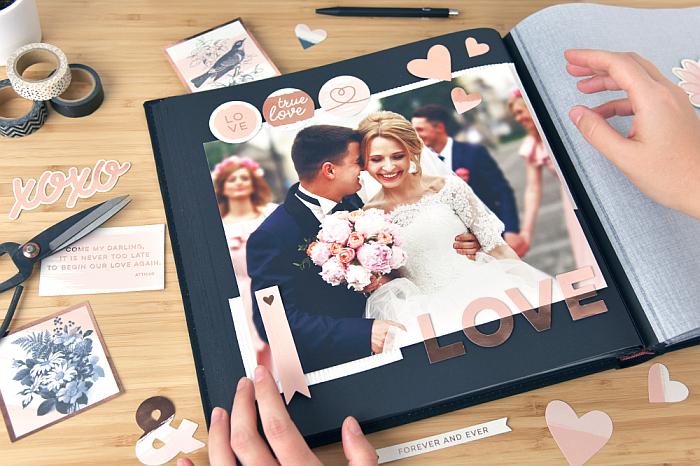 Scrapbooking über die Hochzeit