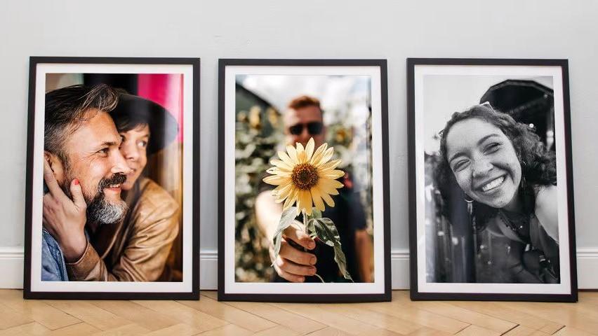 Portraits fotografieren und schick rahmen